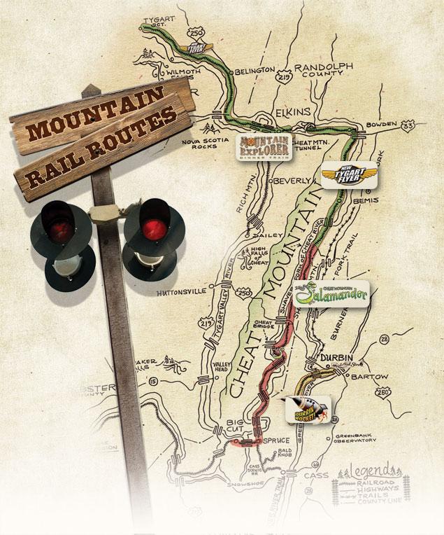 Route Map | Mountain Rail WV